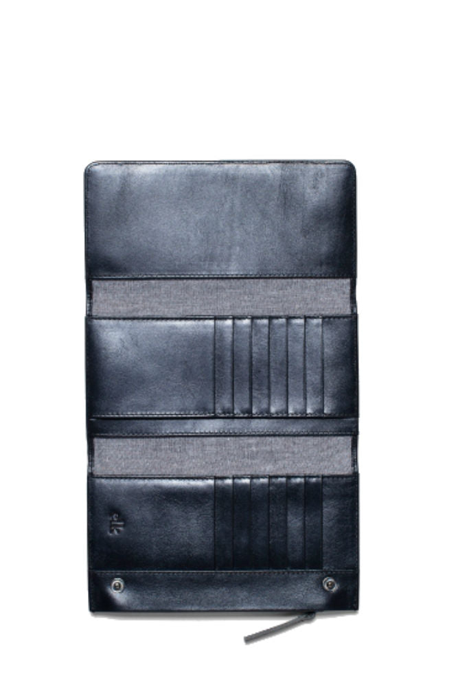 Elk Are Trifold Wallet in Gunmetal