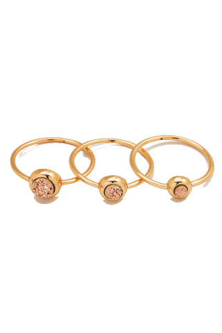 Gorjana Astoria Statement Ring - Rose Gold Druzy/Gold