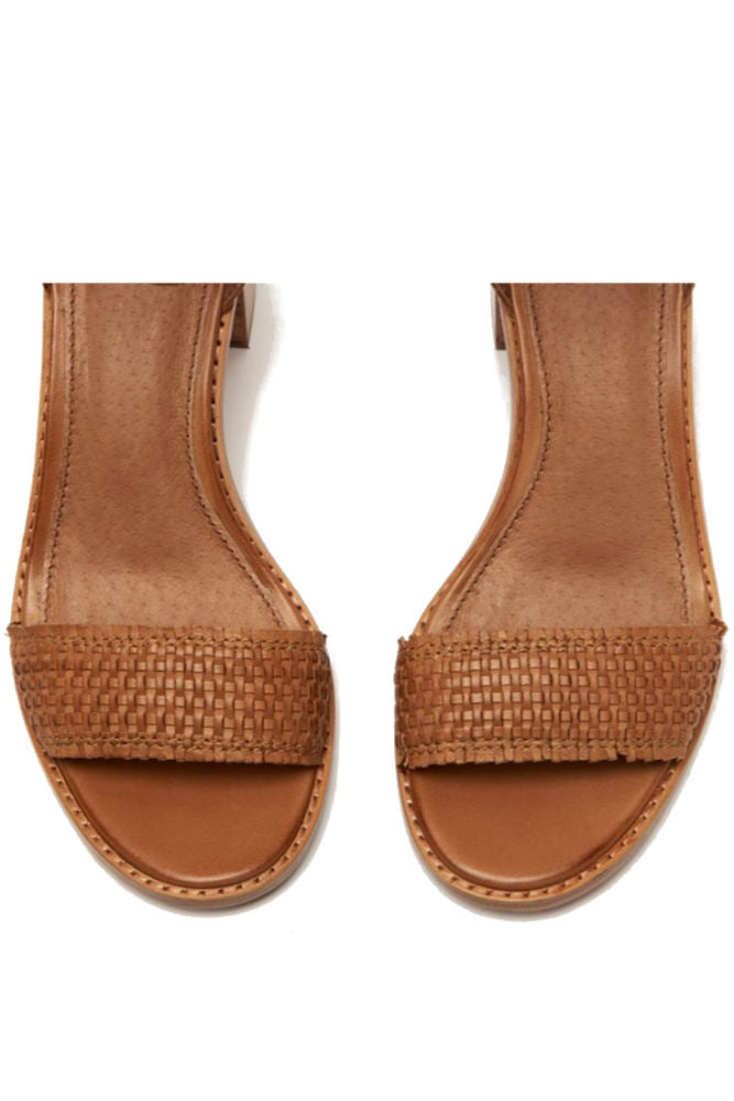 Frye Bianca Woven Back Zip in Tan