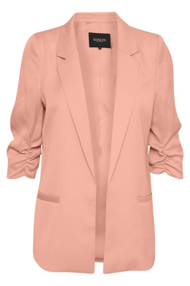 Soaked in Shirley Blazer in Flamingo Coral