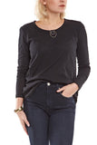 Bobi L/S Curved Hem Top