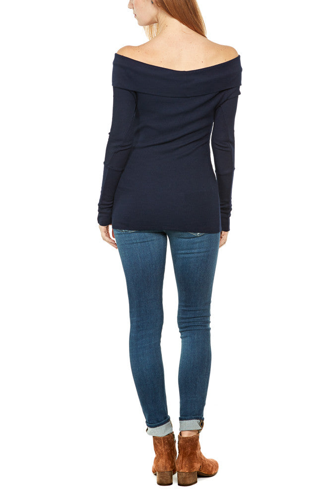 Bobi Off Shoulder Thermal in Harbor FINAL SALE