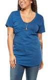 Bobi V-Neck Pocket Tee in Overboard