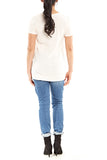 Bobi Step Hem Tee in Bare