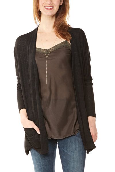 Bobeau Rumor Dolman Cardigan in Black