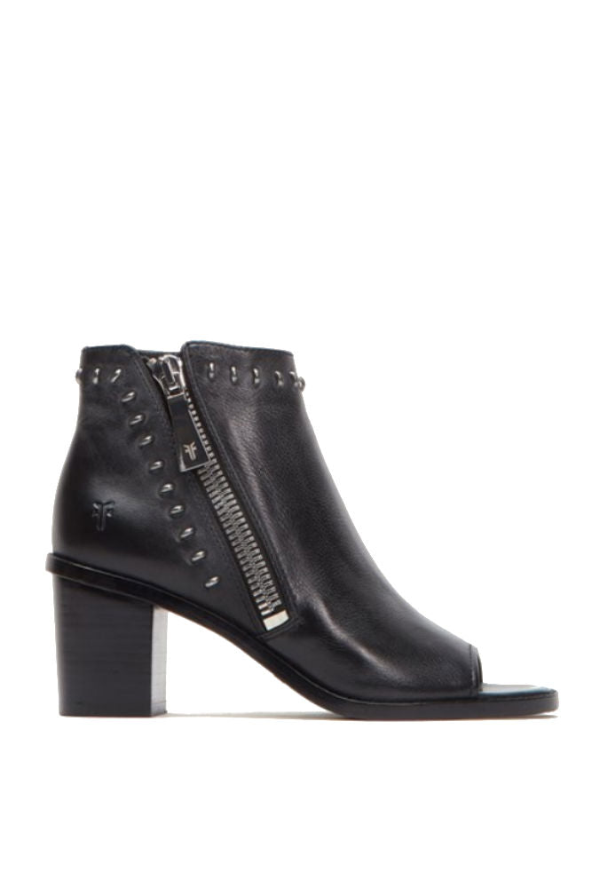 Frye Brielle Rebel Zip Bootie in Black