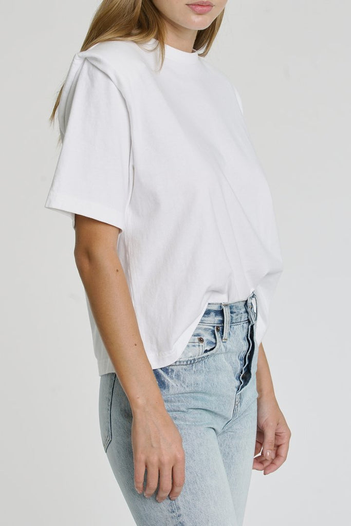 PISTOLA Brileigh Shoulder Pad Pleat Tee