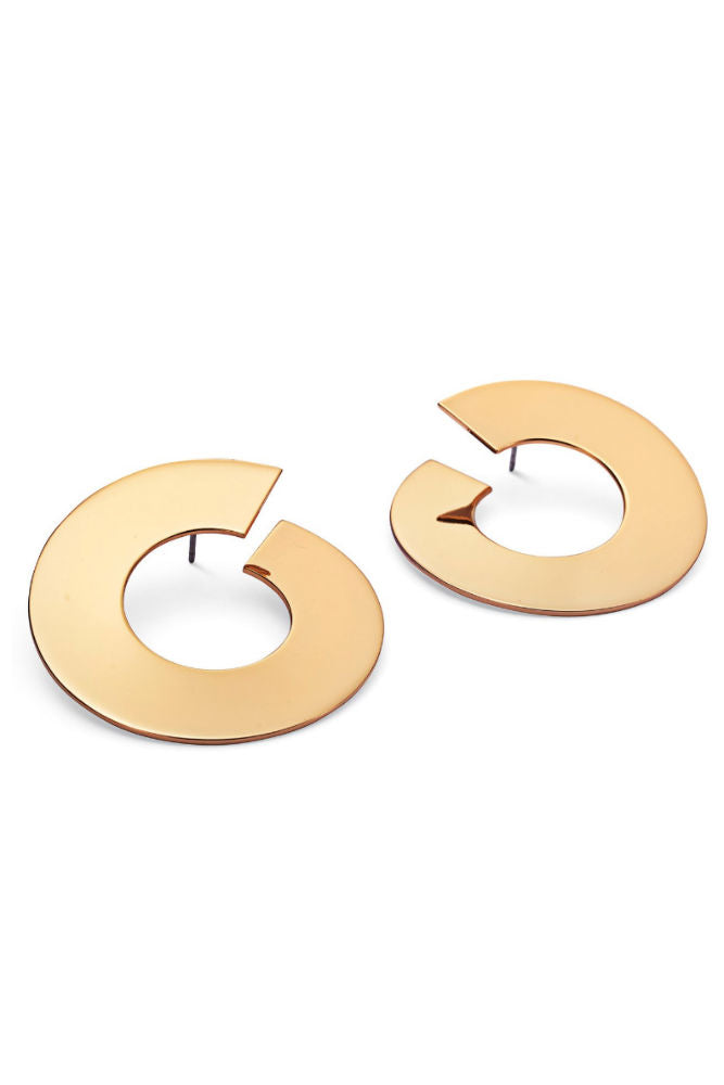 Jenny Bird The Carmine Hoops - Large Gold