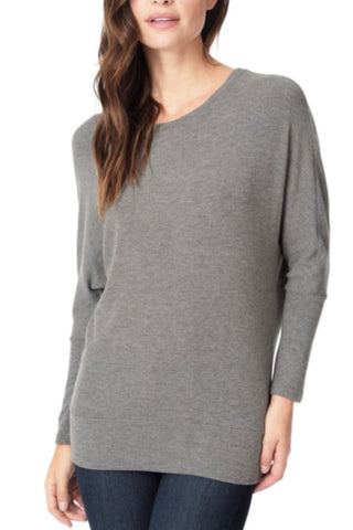 Bobeau Amie Waterfall Cardigan in Charcoal Grey