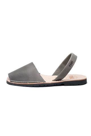 ADORN Carter Vegan Strap Cutout Flats in Grey