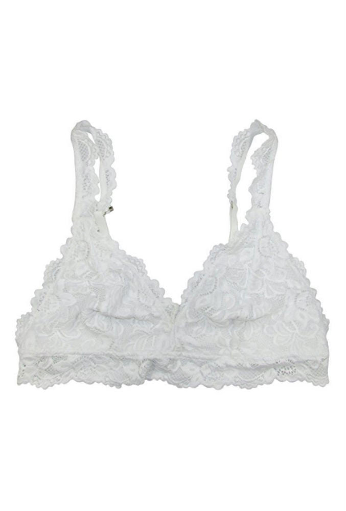 Undie Couture Classic Lace Bralette in White