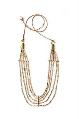 Gorjana Taner Bar Small Necklace in Rose Gold