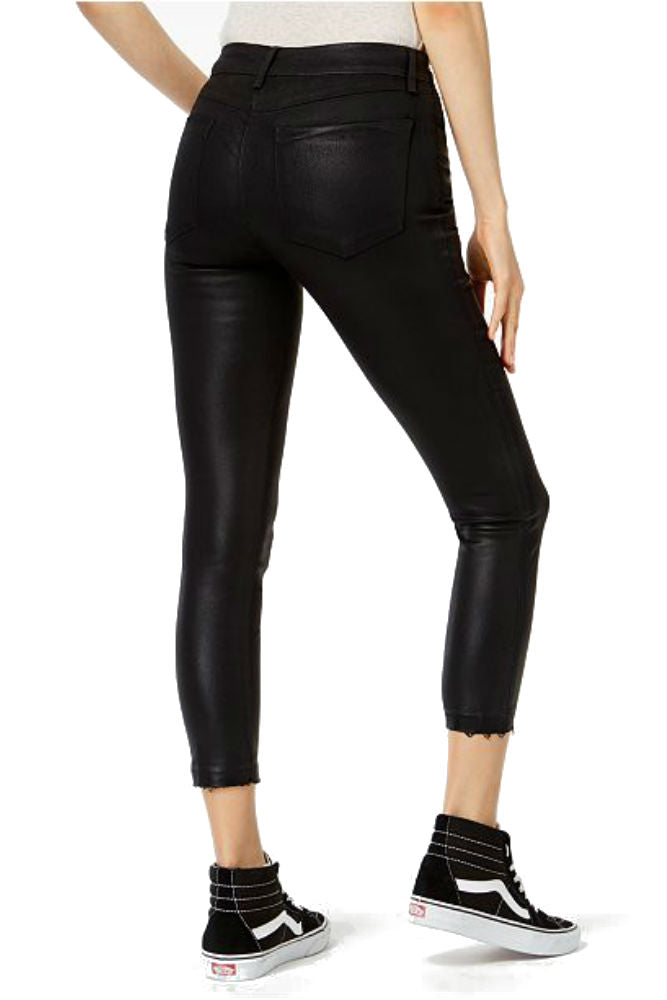 JOE'S JEANS The Charlie Coated High Rise Skinny Ankle in Black