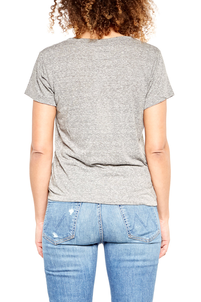 CURRENT/ELLIOTT The V-Neck T-Shirt in Heather Grey