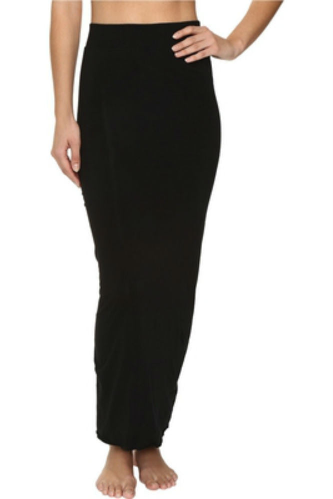 Hard Tail Double Layer Skirt in Black