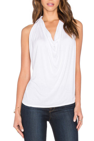 Michael Stars Ripped V-Neck Tee in Oxide