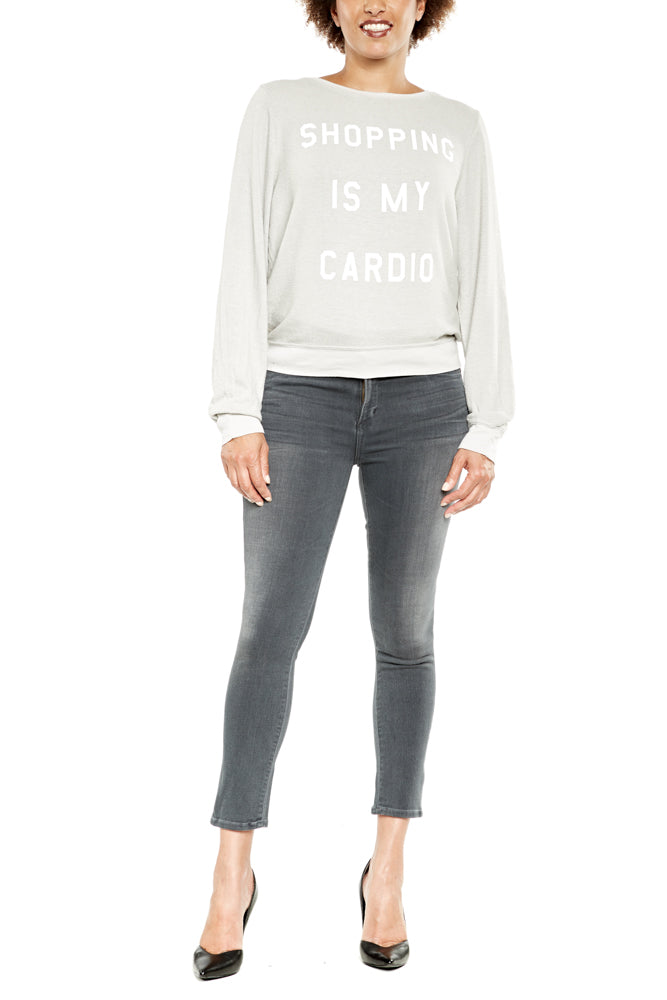 Dream Scene Shopping is My Cardio Jumper in Grey