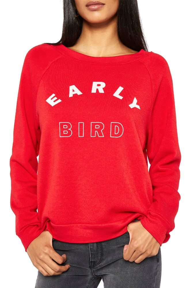 PROJECT SOCIAL T Night Owl/Early Bird Reversible Sweatshirt