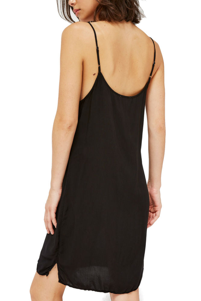 LACAUSA Easy Slip Dress in Tar