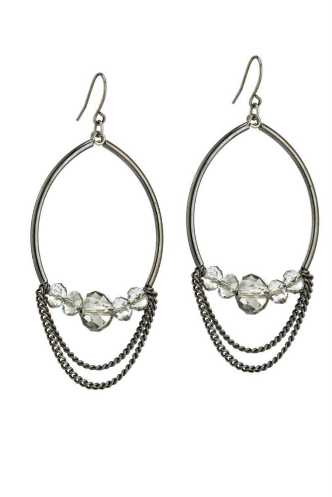 Grayling Edessa Earrings Gunmetal