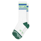Gumball Poodle - Portland White Ribbed Gym Socks