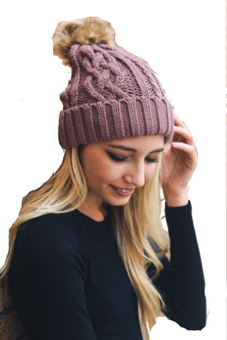 Hat Attack Cashmere Armwarmer in Burgundy