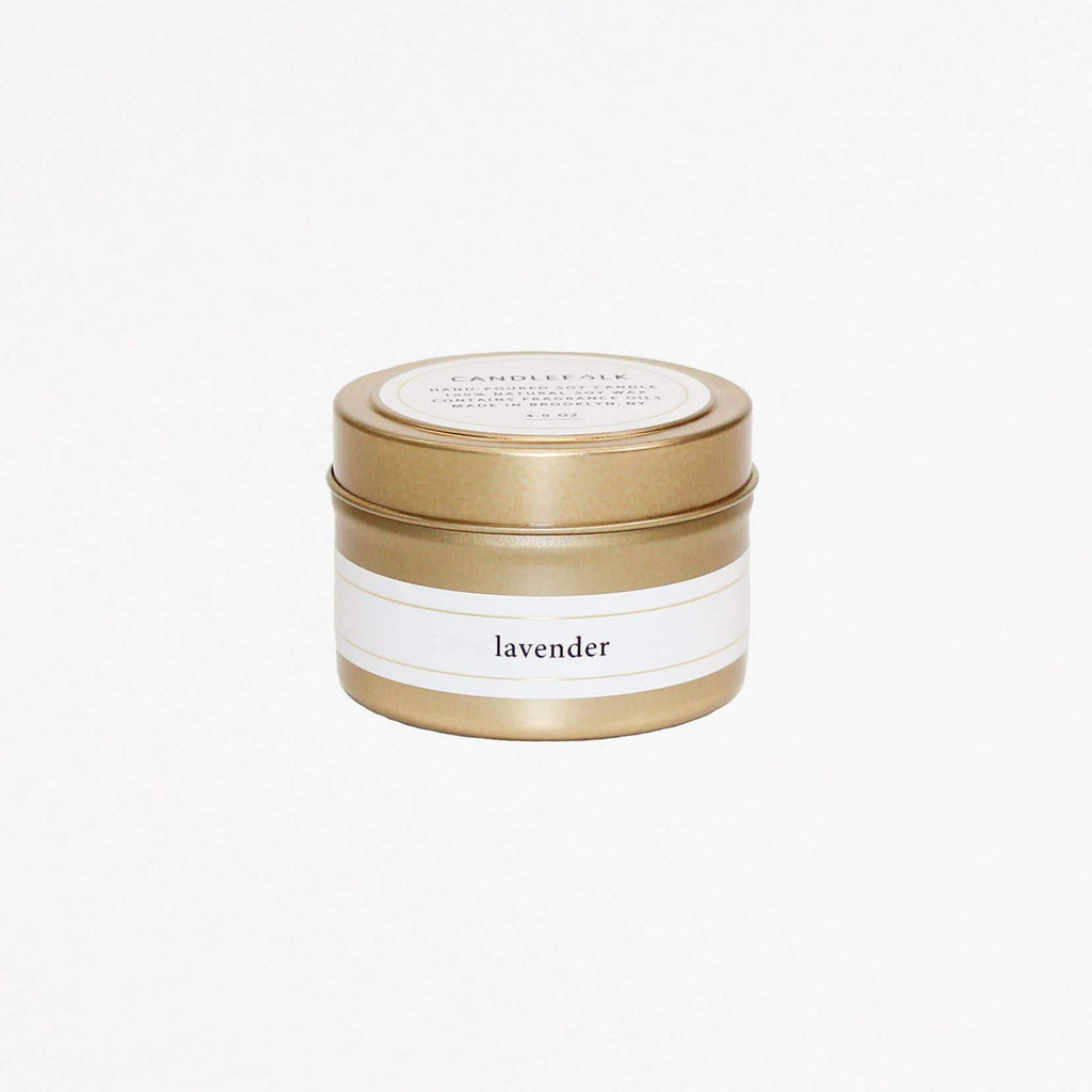 Candlefolk - Gold Travel Candle 4 oz