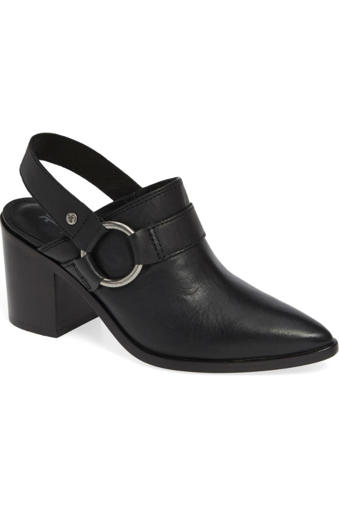Frye Flynn Harness Mule in Black