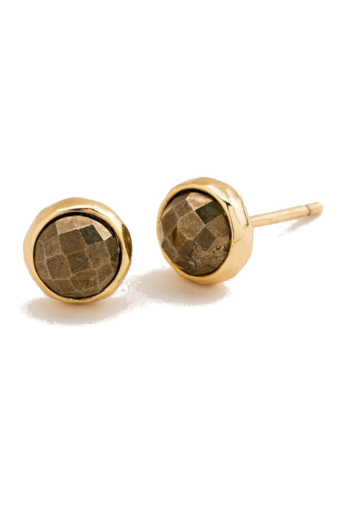 Gorjana Power Gemstone Stud Pyrite