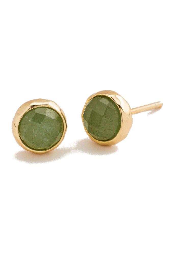 Gorjana Power Gemstone Stud Aventurine