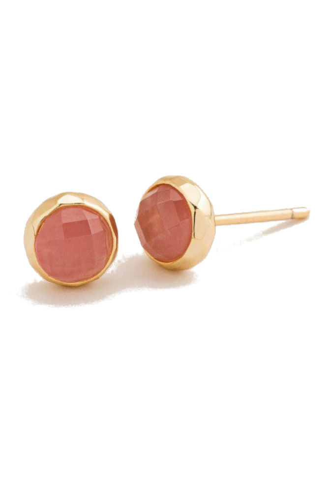 Gorjana Power Gemstone Stud Rose Quartz