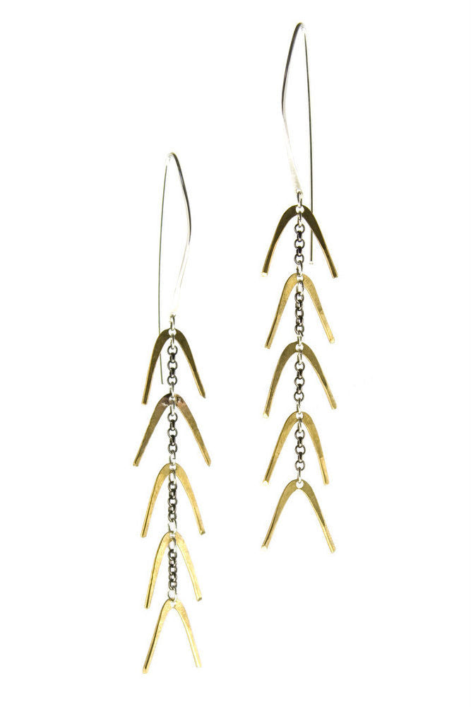 Betsy & Iya Gold Spine Earrings
