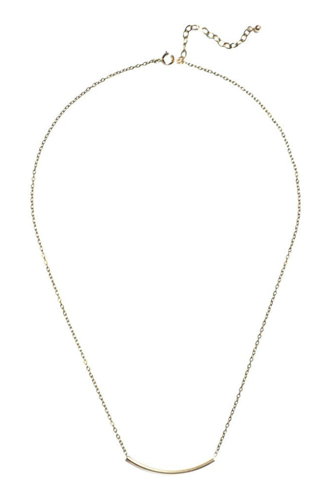 Grayling Arc Necklace Gold