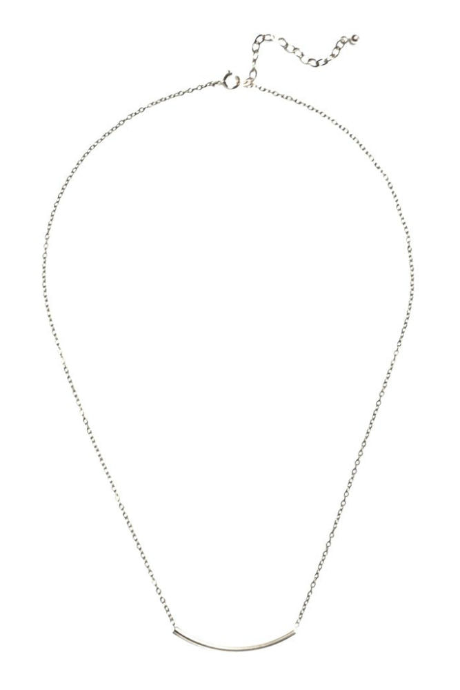 Grayling Arc Necklace Silver