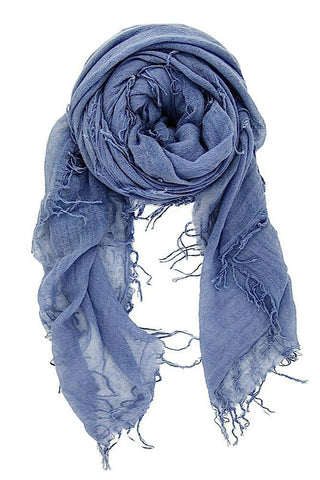 Seattle Silver Blanket Scarf in Navy