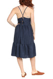 Hailey & Co Tie Back Sun Dress in Navy - FINAL SALE