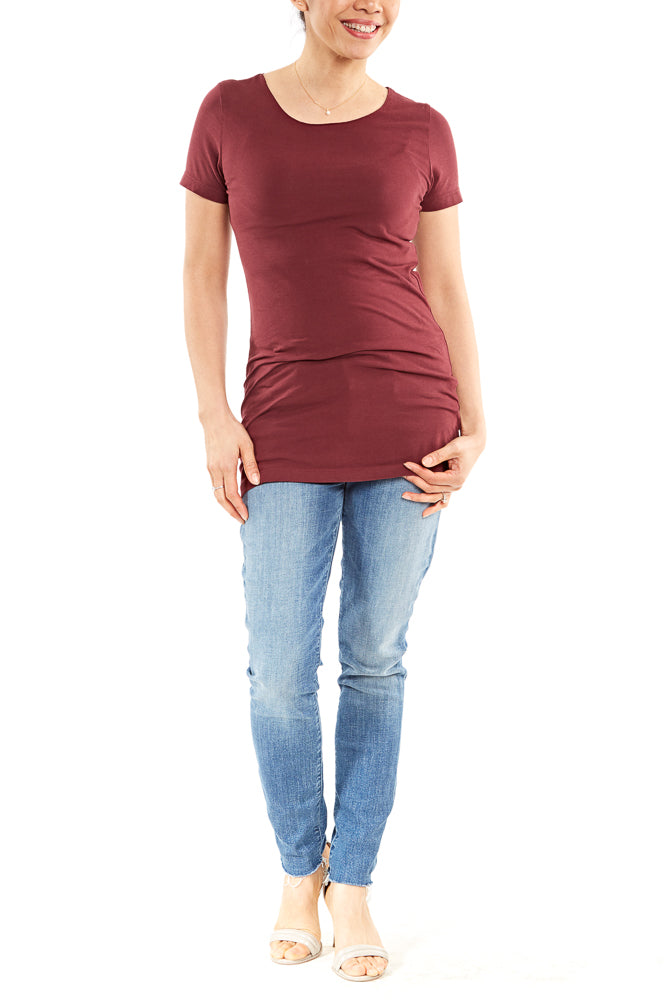Hard Tail S/S Long Skinny Tee in Fig