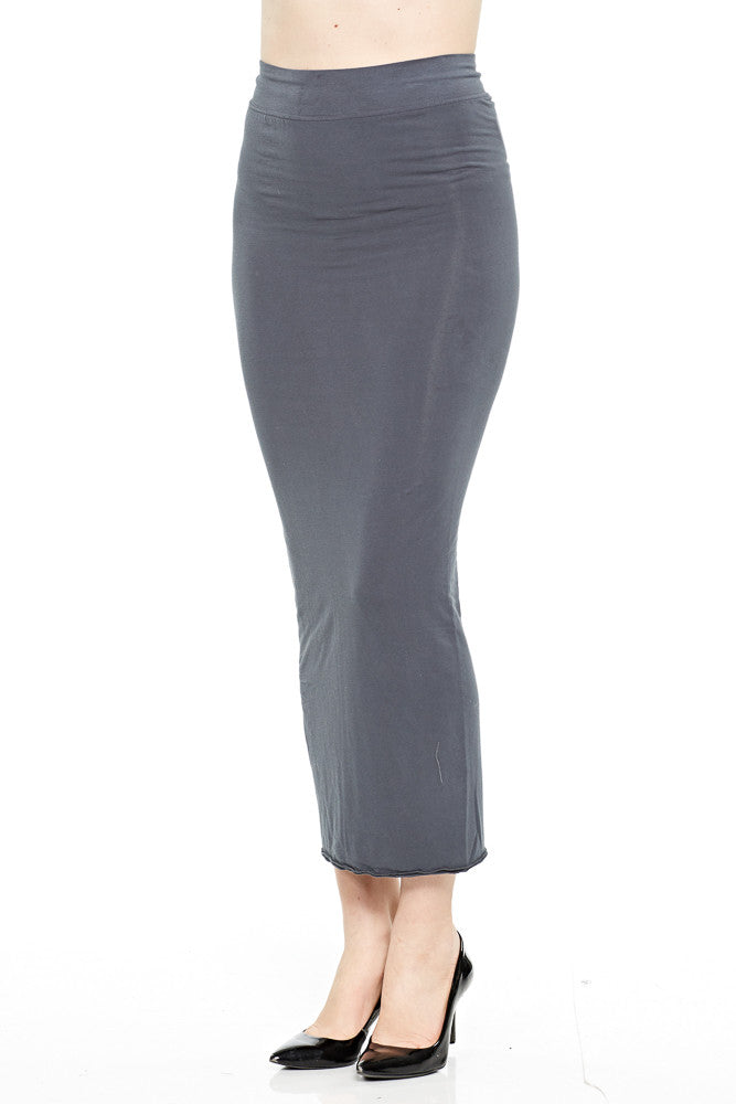 Hard Tail Double Layer Skirt in Dark