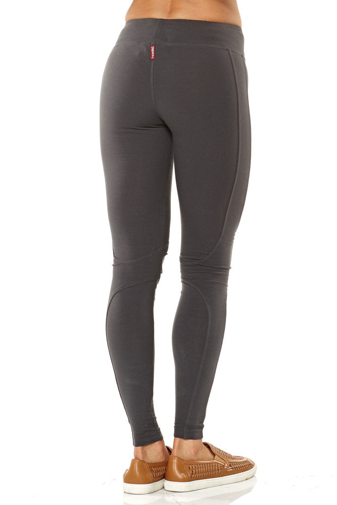 Hard Tail Kick Out Ankle Leggings in Granite