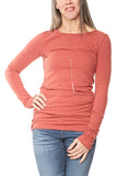 Hard Tail Long Skinny Tee in Paprika