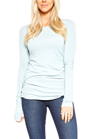 Hard Tail Long Skinny Tee in Smoky