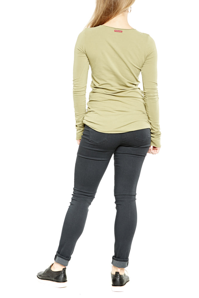 Hard Tail Long Skinny Tee in Camp