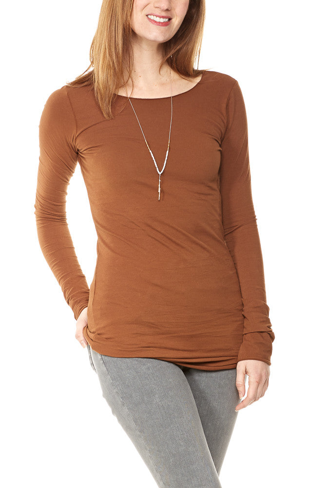 Hard Tail Long Skinny Tee in Hickory
