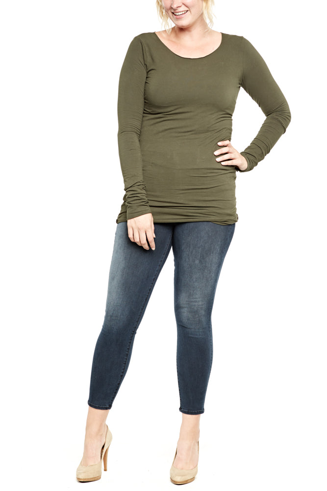 Hard Tail Long Skinny Tee in Valley