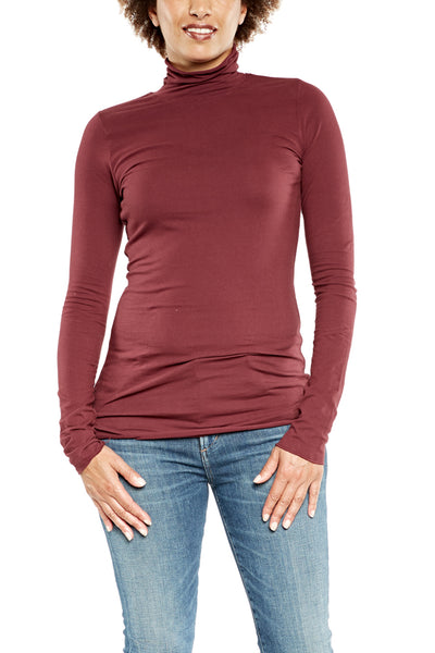 Hard Tail Long Sleeve Turtleneck in Fig