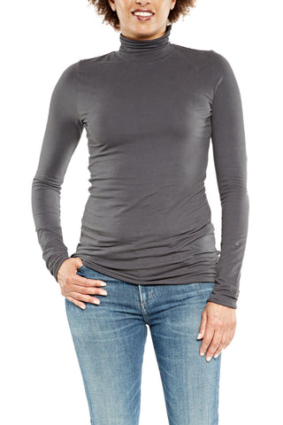 Hard Tail Long Sleeve Turtleneck in Black