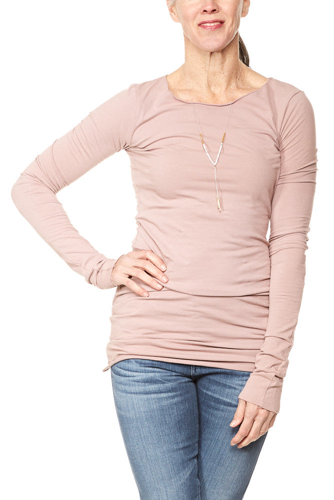 Hard Tail Long Skinny Tee in Mauve