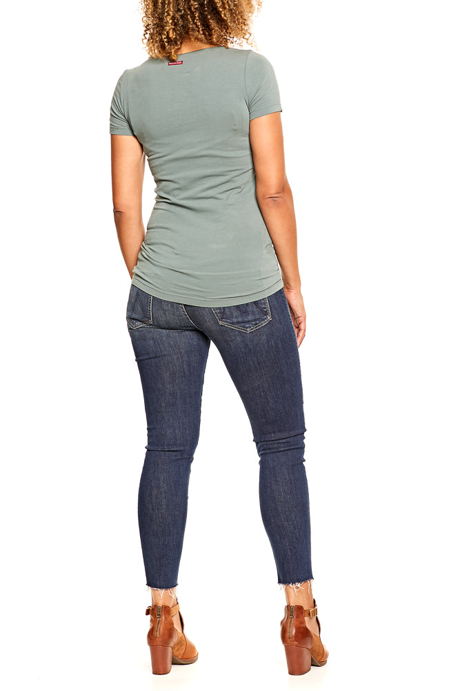 Hard Tail S/S Long Skinny Tee in Juniper