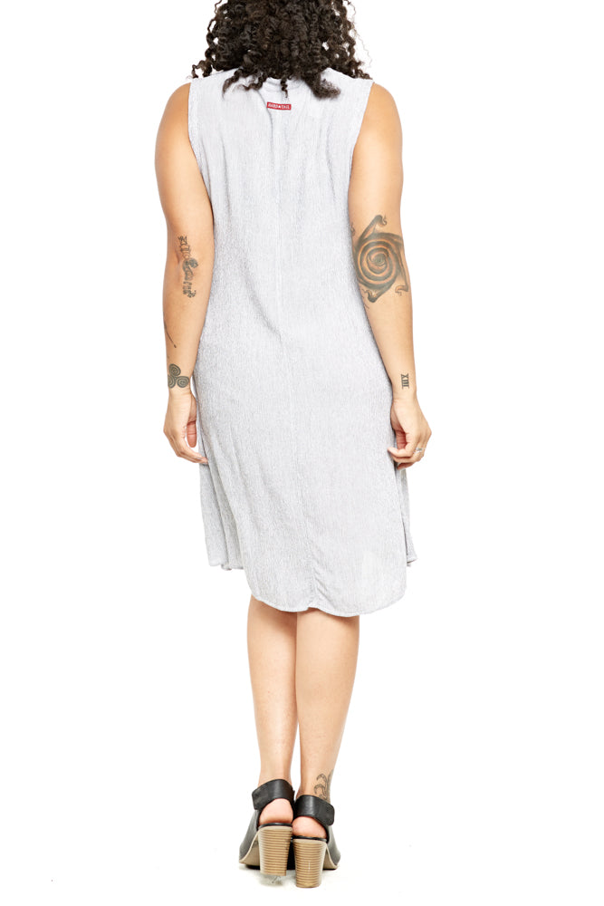 Hard Tail A-Line Dress in White