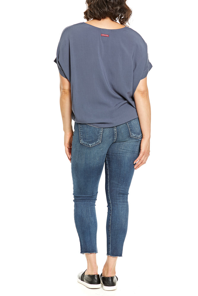 Hard Tail Scoop Boxy Tee in Dusk